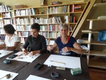 """Cours de calligraphie chinoise au sein de la bibliothèque """"Clés d'Asie"""""""