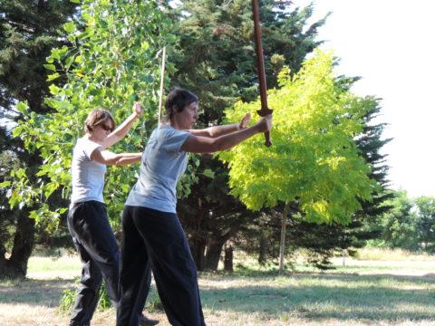 Pratique de l'épée Kun Lun
