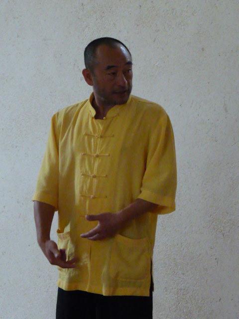 Maître Liu Deming en stage de Tuishou